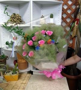 七夕のお誕生日に花束