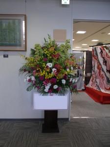 展示会のお花
