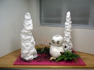 樹氷と雪だるま