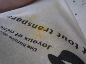 ユリの花粉の落し方