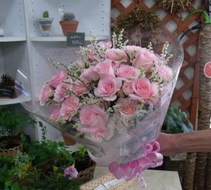 結婚のお祝いに ブーケ風花束