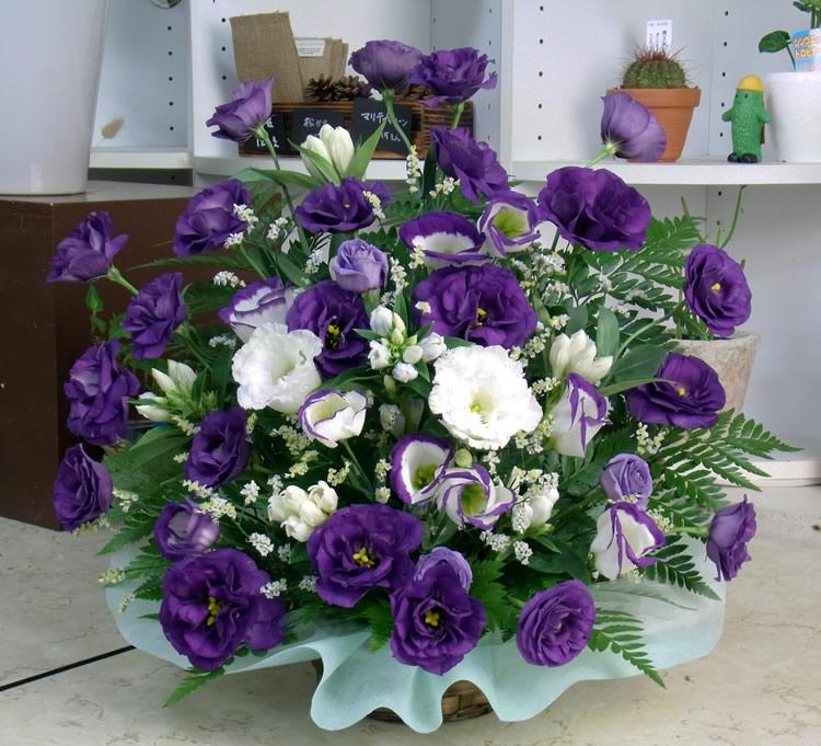 お供えの花 紫系