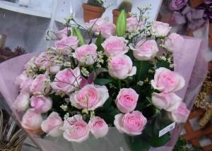 お誕生日のお花 ピンク系