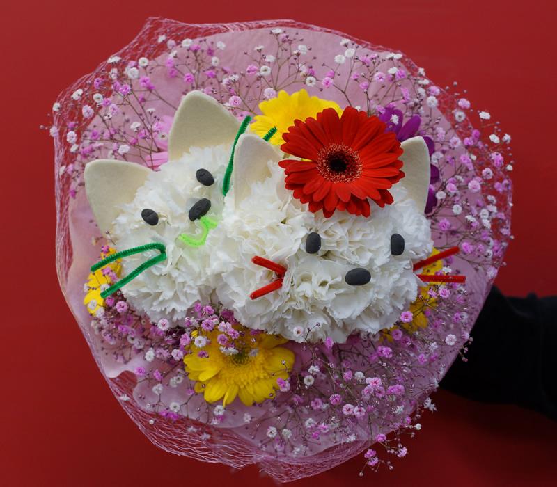 ネコちゃん花束